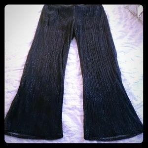 Sheer glittery dress pants